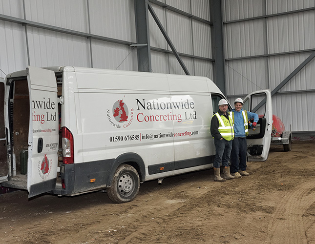 Nationwide Concreting - van and workers