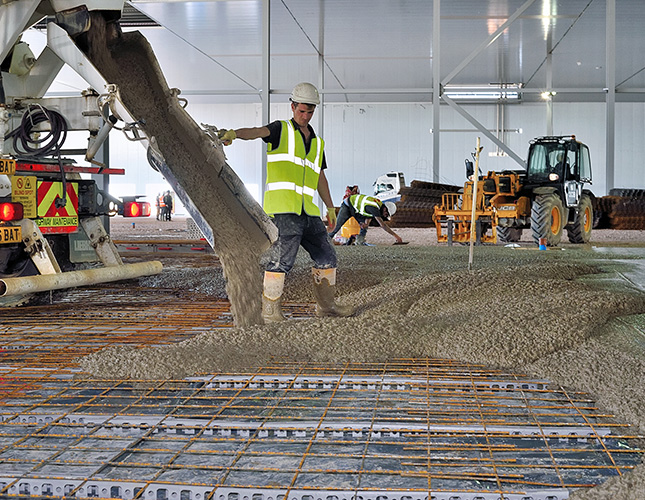concrete warehouse flooring finishes